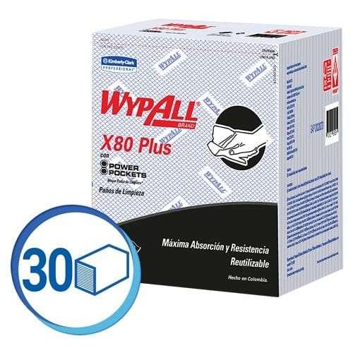 00033 WYPALL X 80 AZUL 10X 30