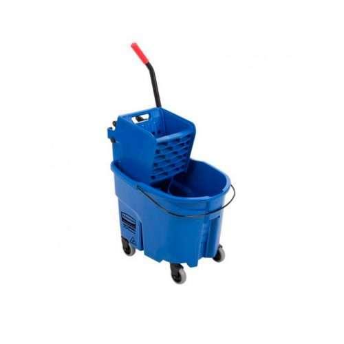 Balde escuridor con prensa lateral azul 017588b