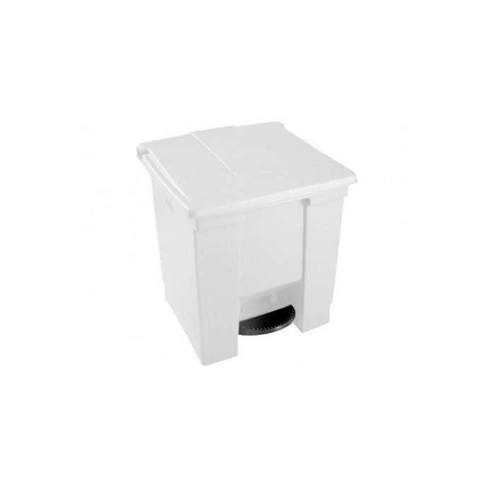 basurero cuadrado blanco 8gl016143W