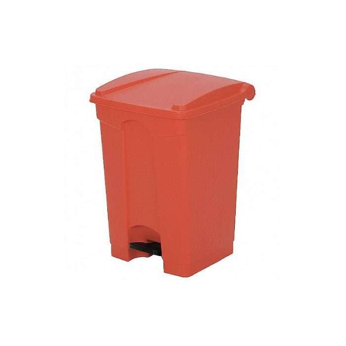 basurero de pedal cuadrado rojo 12 gl 016144R